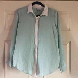 Silk maternity blouse teal